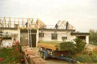 Flachdach-Aufsattelung Wohnhaus